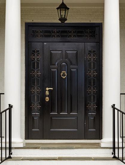 Двустворчатые входные двери