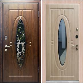 Дверь с ковкой Оливия база-44