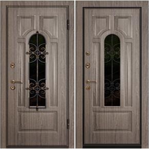 Входная дверь с ковкой Арка база-44