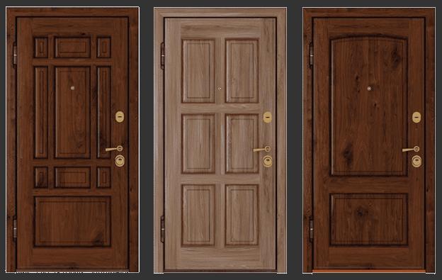 Панель из древесины для входной двери